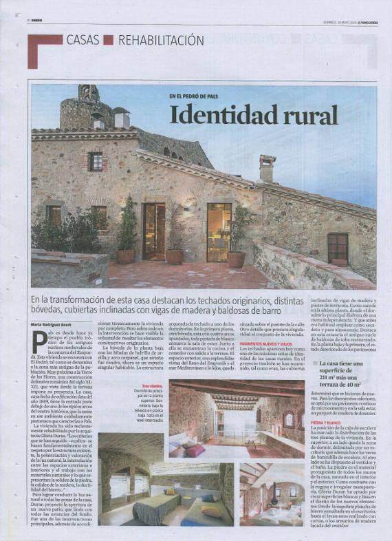 LA VANGUARDIA - Dinero - Identitat Rural 2015