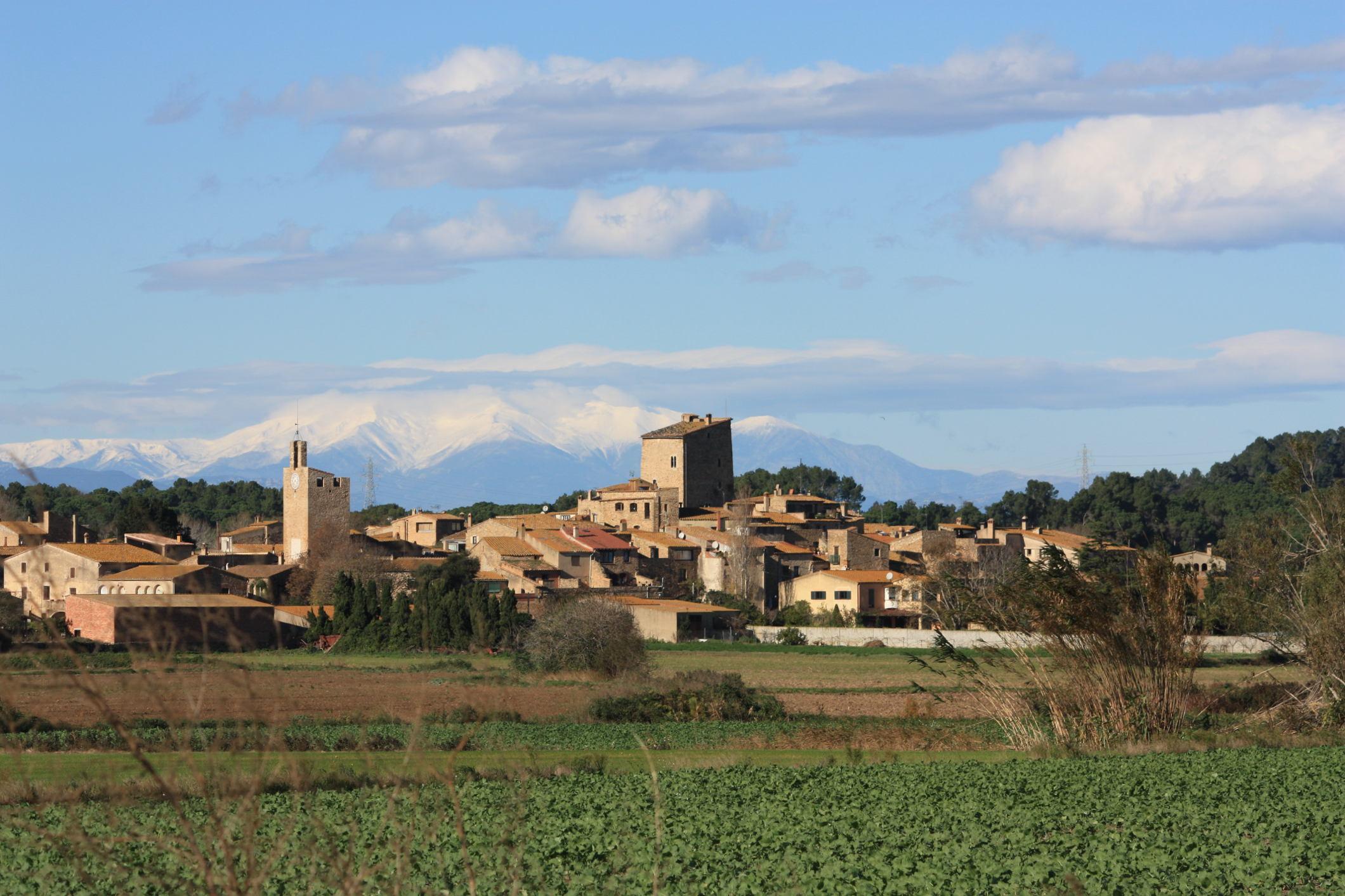 espectaculares vistas de Palau Sator, Baix Empordà, Girona