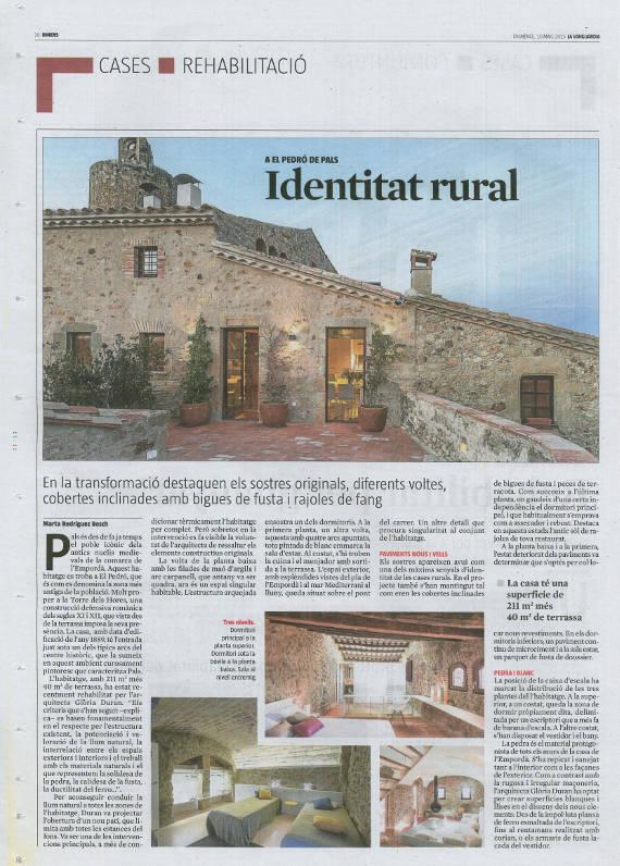 La Vanguardia - Diners - Identitat Rural
