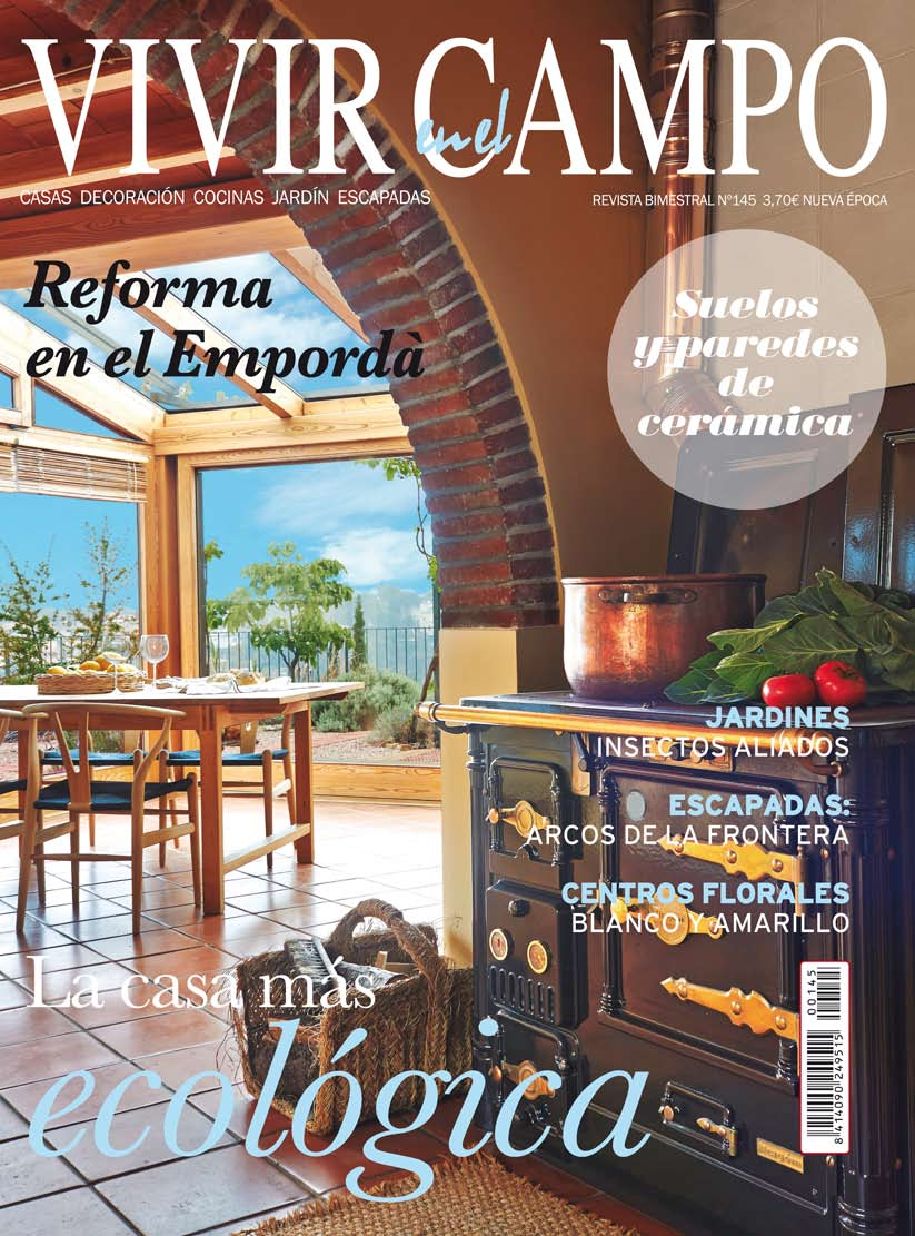 Portada Revista VIVIR EN EL CAMPO nº 145 Palau-sator casa de pueblo en venta baix emporda girona cases singulars emporda
