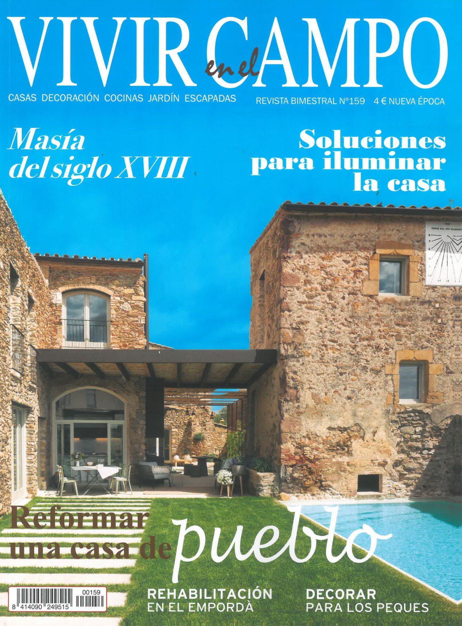 Portada vivir en el campo 159 Mas Sunyer Serra de Daro cases singulars emporda