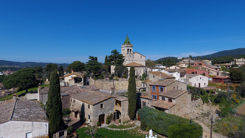 Vistas Pueblo de Pals Baix Empordà, Girona